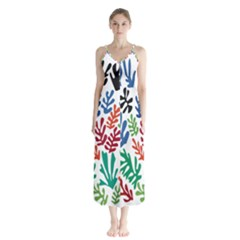The Wreath Matisse Beauty Rainbow Color Sea Beach Button Up Chiffon Maxi Dress by Mariart