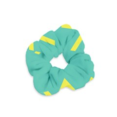 Waves Chevron Wave Green Yellow Sign Velvet Scrunchie by Mariart