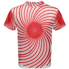 Spiral Red Polka Star Men s Cotton Tee by Mariart
