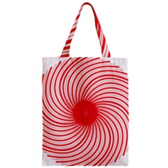 Spiral Red Polka Star Zipper Classic Tote Bag by Mariart