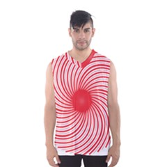 Spiral Red Polka Star Men s Basketball Tank Top