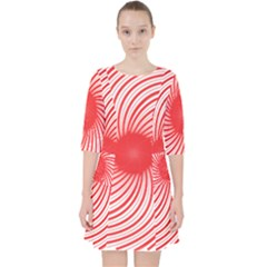 Spiral Red Polka Star Pocket Dress