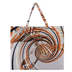 Splines Line Circle Brown Zipper Large Tote Bag by Mariart