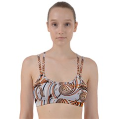 Splines Line Circle Brown Line Them Up Sports Bra