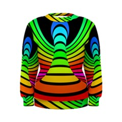 Twisted Motion Rainbow Colors Line Wave Chevron Waves Women s Sweatshirt by Mariart
