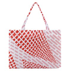 Waves Wave Learning Connection Polka Red Pink Chevron Zipper Medium Tote Bag by Mariart