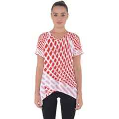 Waves Wave Learning Connection Polka Red Pink Chevron Cut Out Side Drop Tee