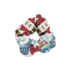 Funny Santa Claus With Snowman Velvet Scrunchie by FantasyWorld7