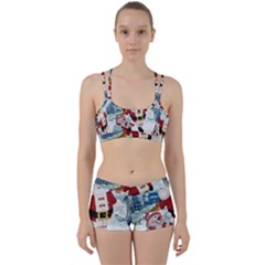 Funny Santa Claus With Snowman Women s Sports Set by FantasyWorld7