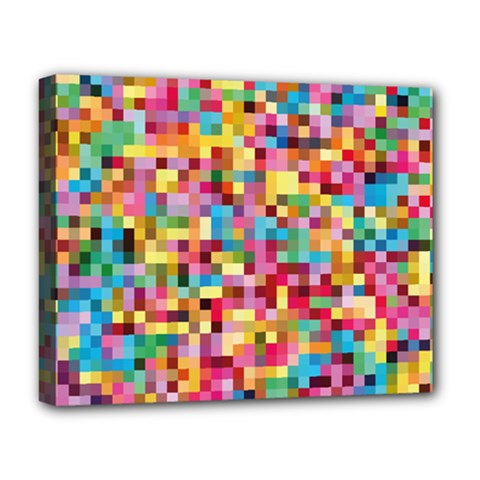 Mosaic Pattern 2 Deluxe Canvas 20  X 16   by tarastyle