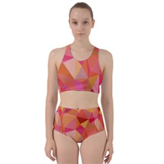 Mosaic Pattern 3 Racer Back Bikini Set