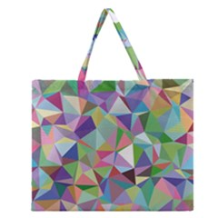 Mosaic Pattern 5 Zipper Large Tote Bag by tarastyle