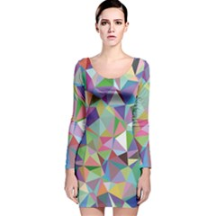 Mosaic Pattern 5 Long Sleeve Velvet Bodycon Dress by tarastyle
