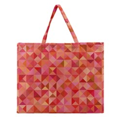 Mosaic Pattern 6 Zipper Large Tote Bag by tarastyle