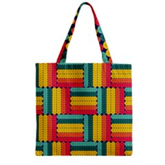 Soft Spheres Pattern Zipper Grocery Tote Bag by linceazul
