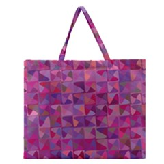 Mosaic Pattern 7 Zipper Large Tote Bag by tarastyle
