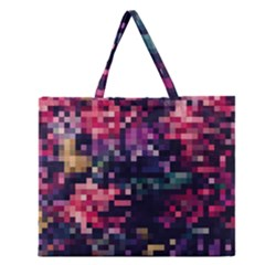 Mosaic Pattern 8 Zipper Large Tote Bag by tarastyle