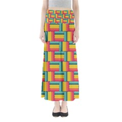 Soft Spheres Pattern Full Length Maxi Skirt by linceazul
