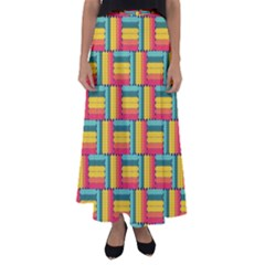 Soft Spheres Pattern Flared Maxi Skirt by linceazul