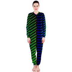 Digitally Created Halftone Dots Abstract Background Design Onepiece Jumpsuit (ladies)