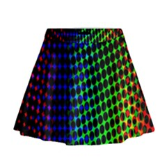 Digitally Created Halftone Dots Abstract Background Design Mini Flare Skirt