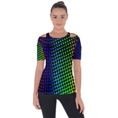 Digitally Created Halftone Dots Abstract Background Design Short Sleeve Top