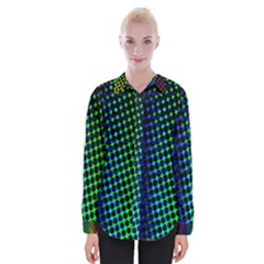 Digitally Created Halftone Dots Abstract Background Design Womens Long Sleeve Shirt