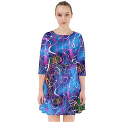 Background Chaos Mess Colorful Smock Dress