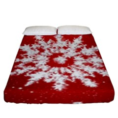 Background Christmas Star Fitted Sheet (king Size)