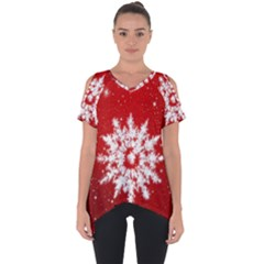 Background Christmas Star Cut Out Side Drop Tee