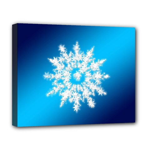 Background Christmas Star Deluxe Canvas 20  X 16   by Nexatart