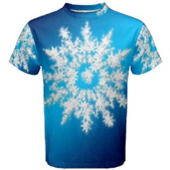 Background Christmas Star Men s Cotton Tee