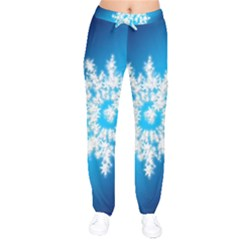 Background Christmas Star Drawstring Pants