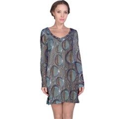 Drop Of Water Condensation Fractal Long Sleeve Nightdress