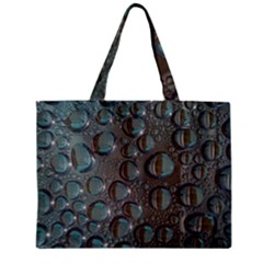 Drop Of Water Condensation Fractal Zipper Mini Tote Bag