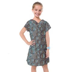 Drop Of Water Condensation Fractal Kids  Drop Waist Dress