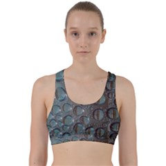 Drop Of Water Condensation Fractal Back Weave Sports Bra