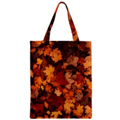 Fall Foliage Autumn Leaves October Zipper Classic Tote Bag by Nexatart