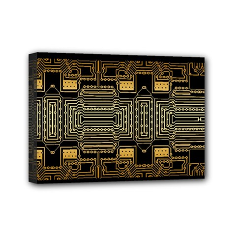 Board Digitization Circuits Mini Canvas 7  X 5  by Nexatart