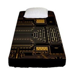 Board Digitization Circuits Fitted Sheet (single Size) by Nexatart
