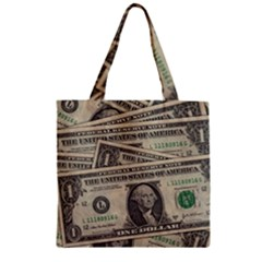 Dollar Currency Money Us Dollar Zipper Grocery Tote Bag