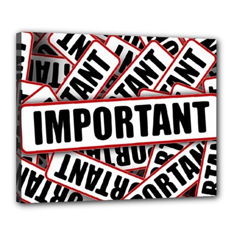 Important Stamp Imprint Canvas 20  X 16  by Nexatart