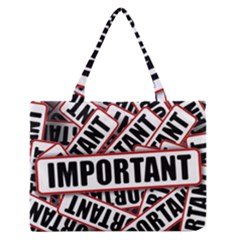 Important Stamp Imprint Zipper Medium Tote Bag by Nexatart