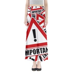 Important Stamp Imprint Full Length Maxi Skirt