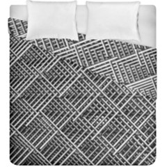 Grid Wire Mesh Stainless Rods Duvet Cover Double Side (king Size) by Nexatart