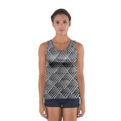 Grid Wire Mesh Stainless Rods Sport Tank Top