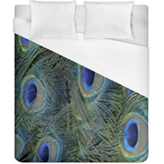 Peacock Feathers Blue Bird Nature Duvet Cover (california King Size)