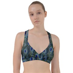 Peacock Feathers Blue Bird Nature Sweetheart Sports Bra by Nexatart