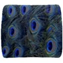 Peacock Feathers Blue Bird Nature Back Support Cushion View1
