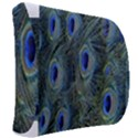 Peacock Feathers Blue Bird Nature Back Support Cushion View2